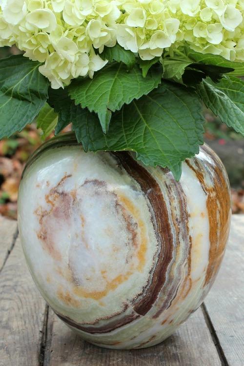 Green Onyx Large Vase