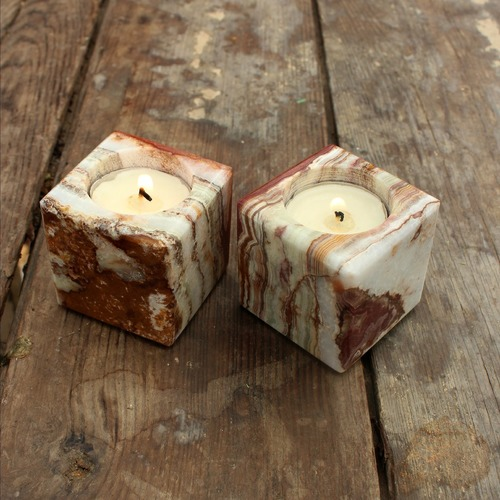 Green Onyx Votive/Tealight Holder