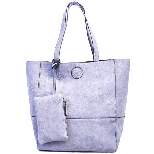 Raw Edge Tote Handbag Wisteria