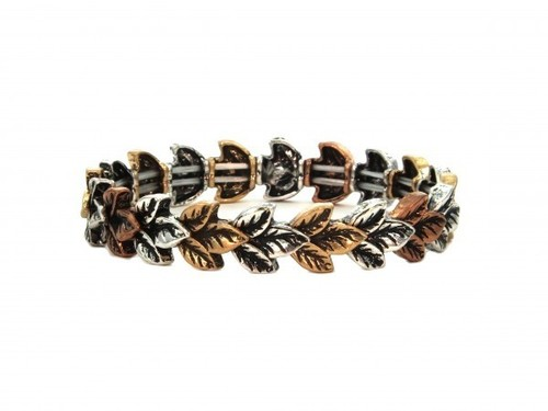 Metal Leaf Stretch Bracelet