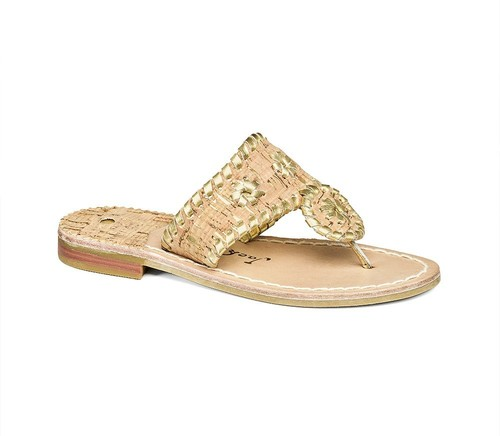 Jack Rogers Napa Valley Natural Cork/Gold