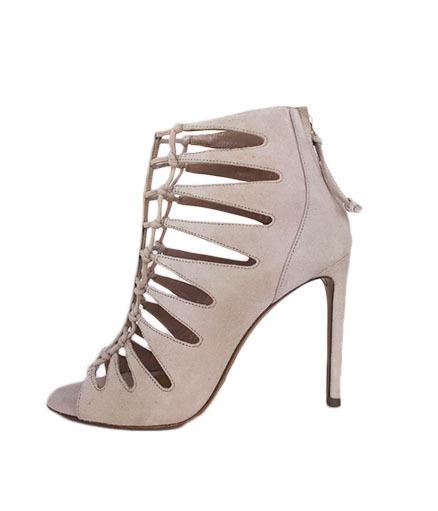 Suede Sandal Heel