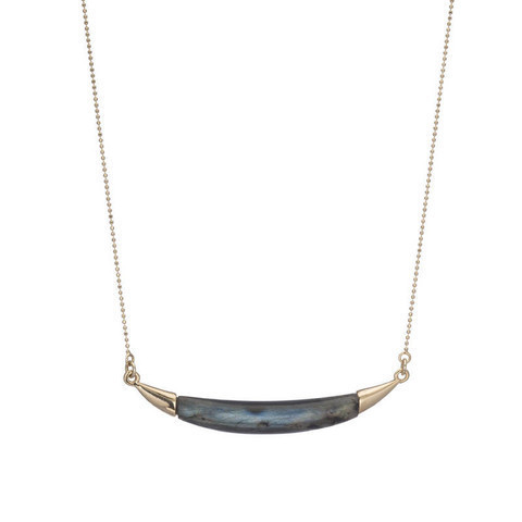 Labradorite Horn Necklace
