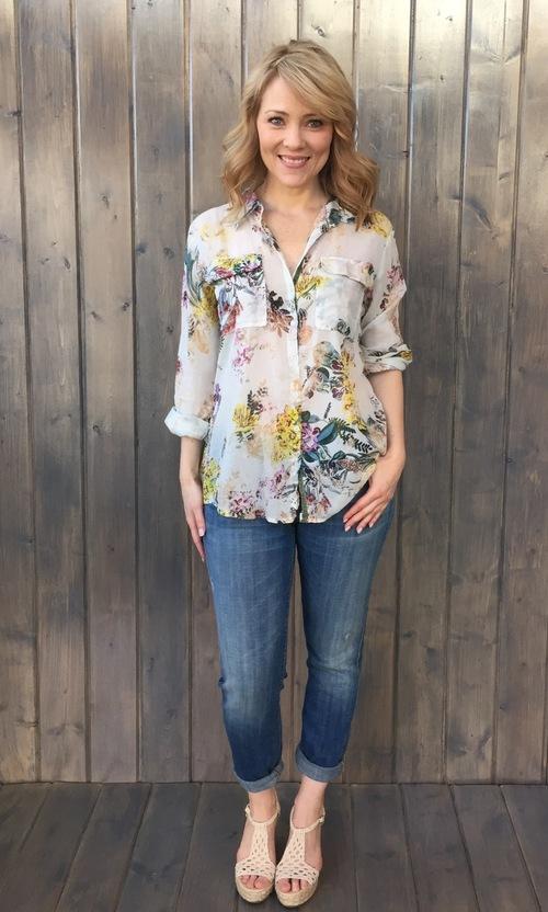 Lindsay Floral Bouquet Shirt