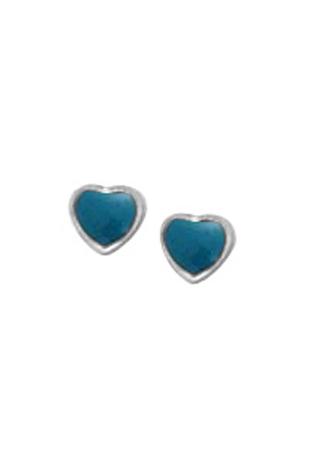 Blue Resin Heart Post