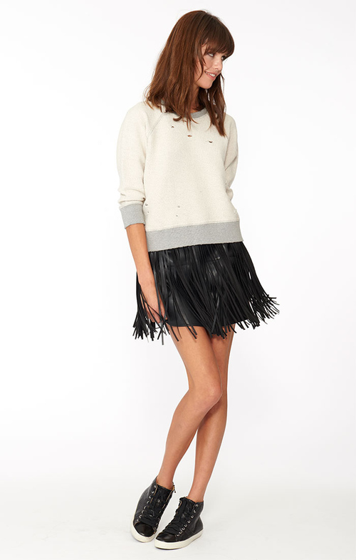 Clover Mini Fringe Skirt