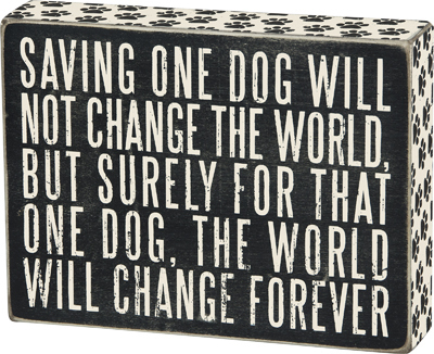 One Dog Box Sign