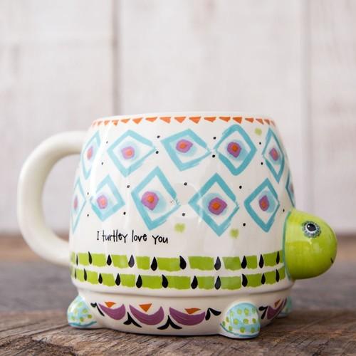 Folk Art Turtle Love Mug
