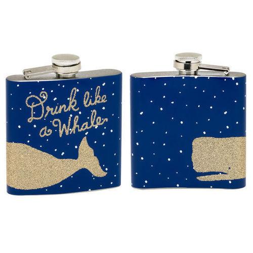 Drink Like A Whale Flask