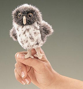 Mini Spotted Owl Finger Puppet
