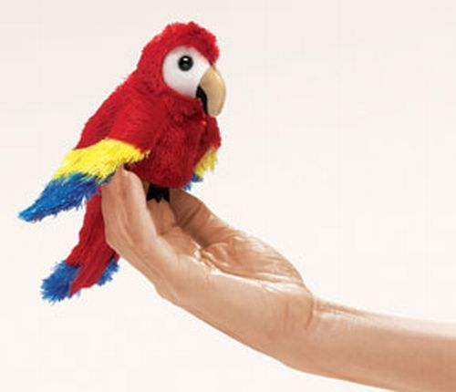 Mini Macaw Finger Puppet