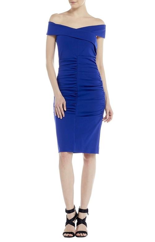 Off the Shoulder Tuck Dress
