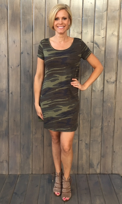 Connor Camo Green Dress