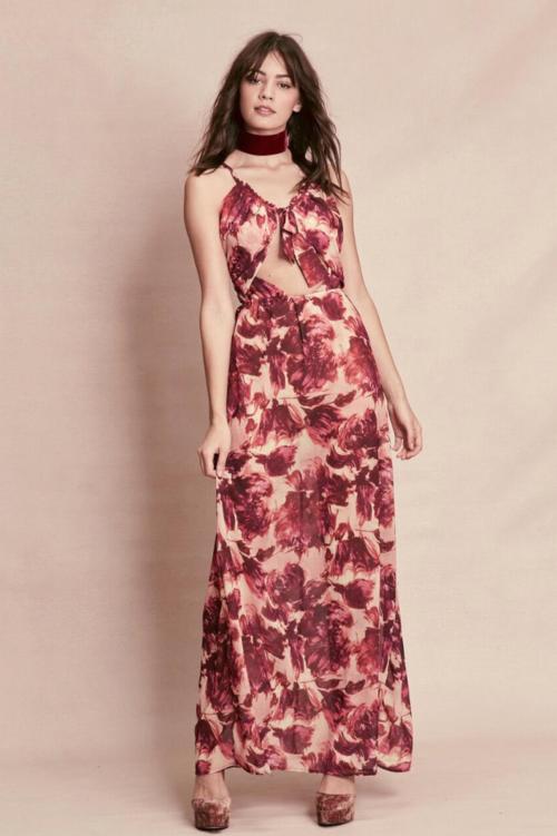 Wild Rose Maxi Dress