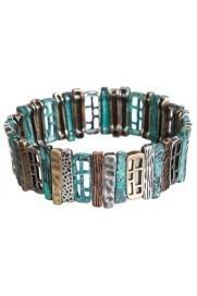 Textured Cutout Bars Bracelet