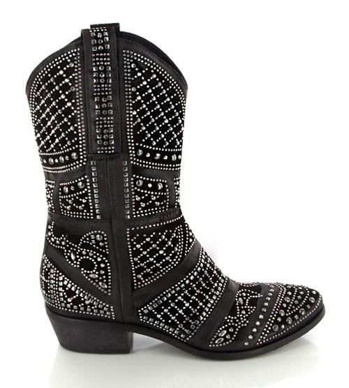 Velour Nero Boots
