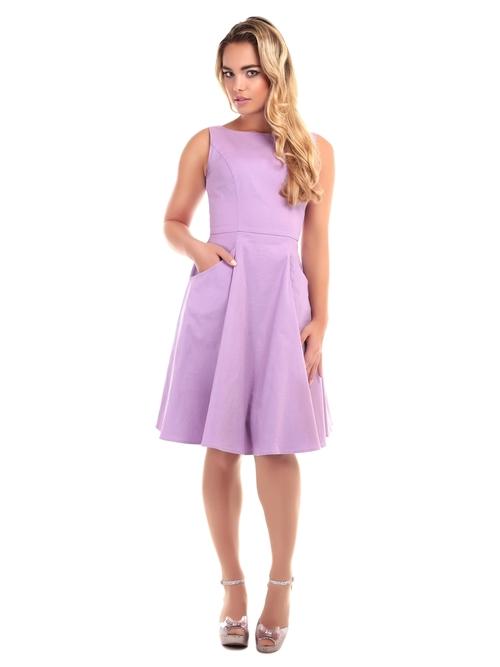 4b69feca9323 Collectif Hepburn Plain Cotton Swing Dress By Collectif