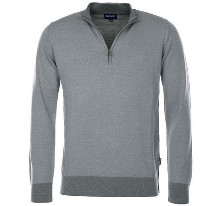 Barbour Erskine Half Zip Jumper Grey