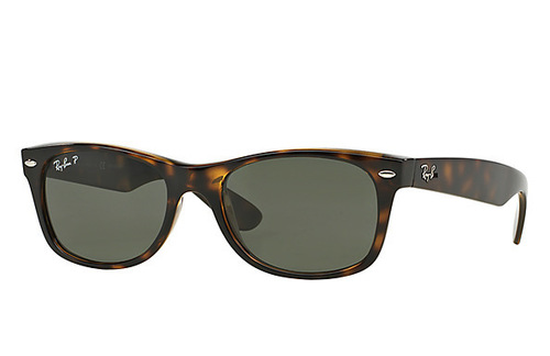 Ray-Ban New Wayfarer Classic Polarized Green G-15 Tortoise
