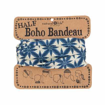 Navy Cream Bursts Half Boho Bandeau