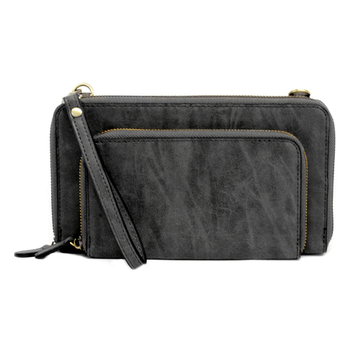 Brushed Black Mini Convertible Bag