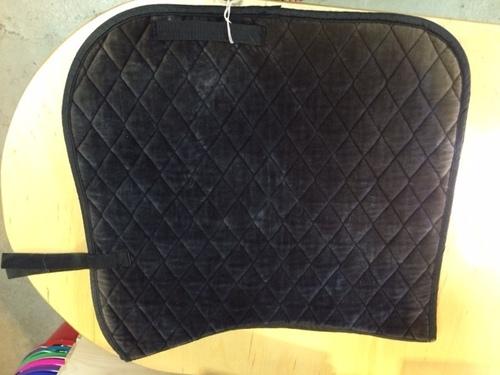 Consignment Black Velvet Dressage Pad
