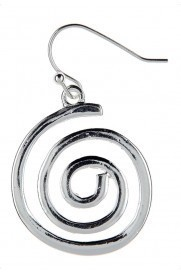 Small Spiral Earrings Silver