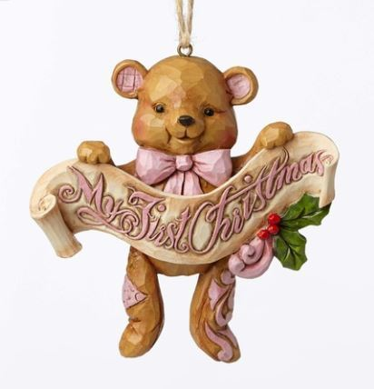 Baby's 1st Pink Bear Ornament