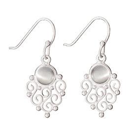 Moonstone Scroll Earrings
