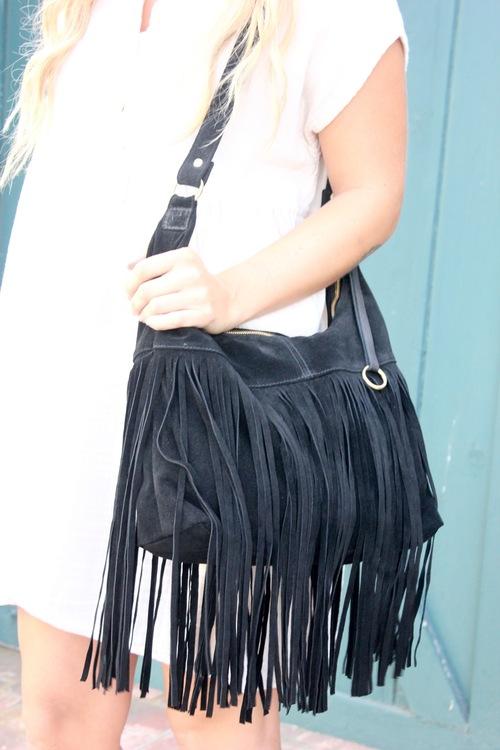 Lori Suede Handbag
