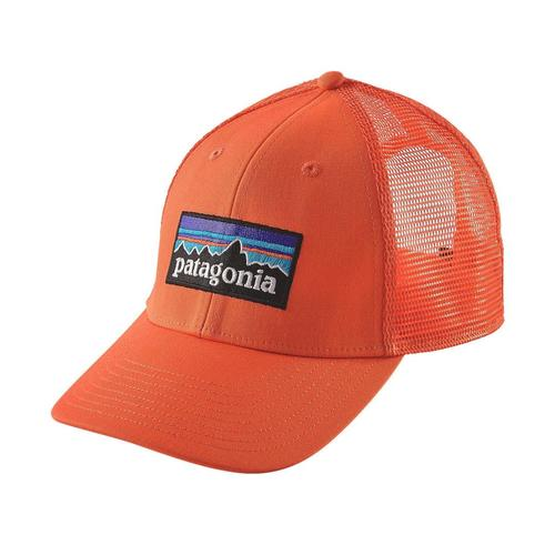 Patagonia P-6 Logo LoPro Trucker Hat Campfire Orange