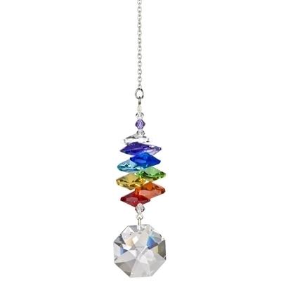 Crystal Rainbow Cascade Suncatcher Octagon