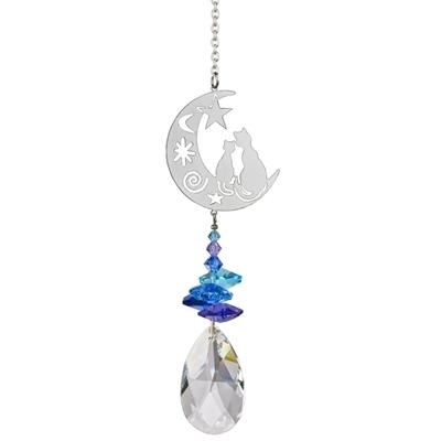 Crystal Fantasy Suncatcher Cats