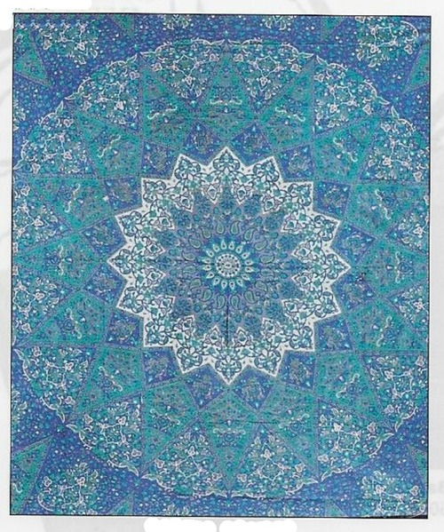 Multi Blue Double Tapestry