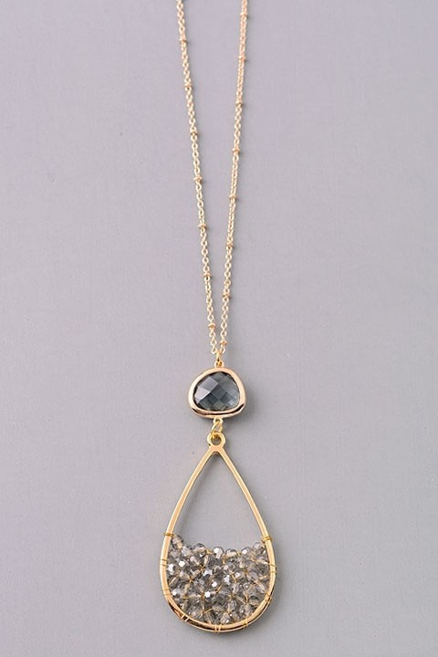 Wedding Season long sparkle necklace