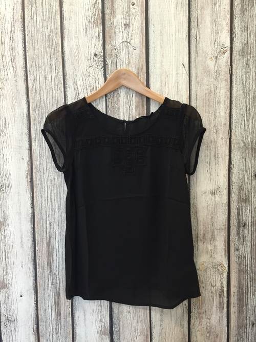 Lattice Lace Detail Top