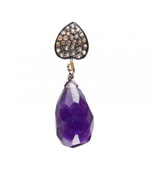 Earrings: Amethyst gem Drop.