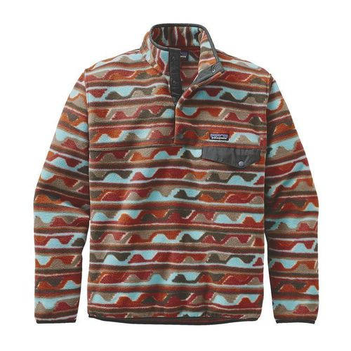 Patagonia M Lw Synch Snap T P O Delta Cinder Red By