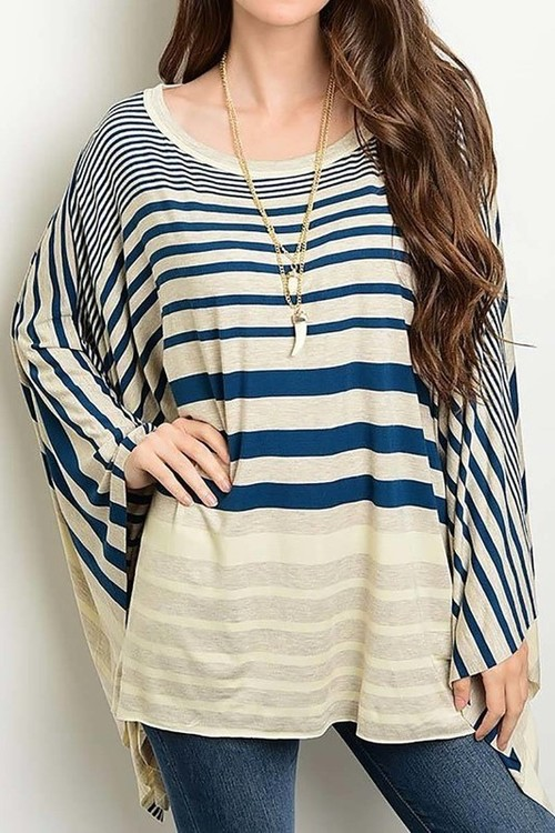 Apple Orchard poncho top