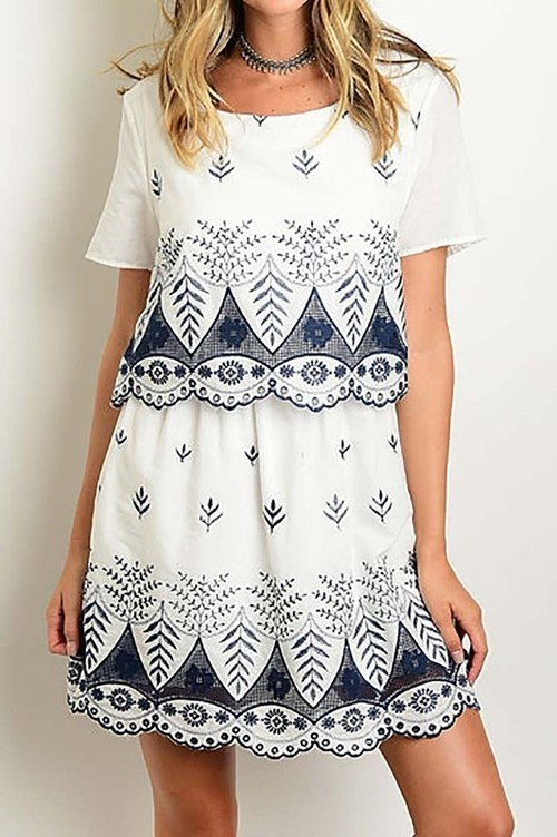 Dahlia embroidered dress