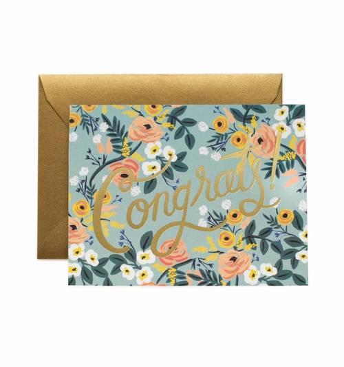 Blue Meadow Congrats Card