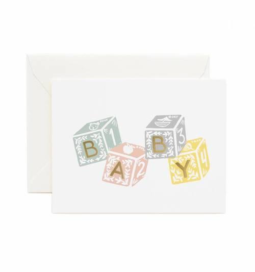 Baby Blocks Card