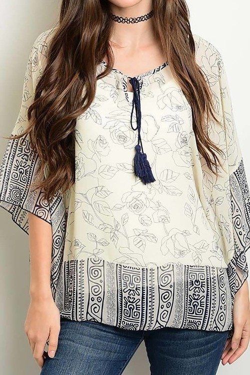 Chiffon kimono blouse
