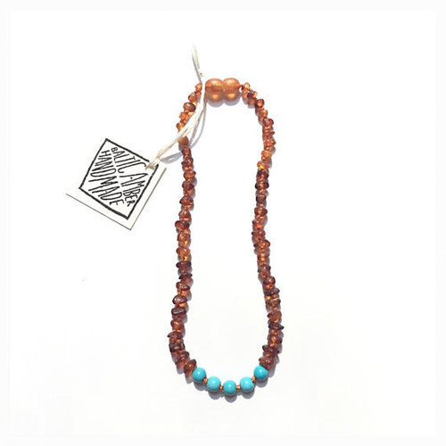 Amber & Turquoise Teething Necklace