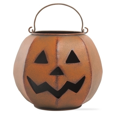 Rustic Pumpkin Pillar Holder