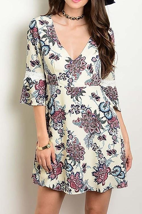 Corinna floral dress