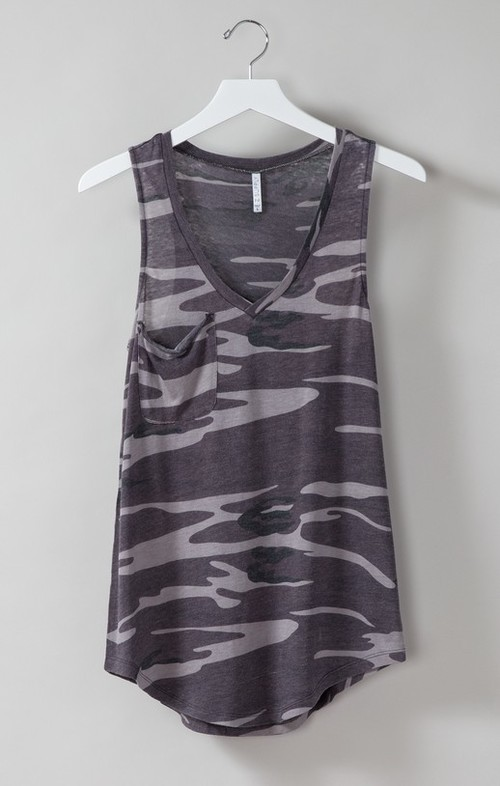 Pocket Racer Tank Camo Black