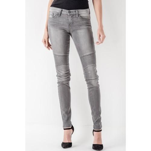 Grey Moto Skinny Jeans
