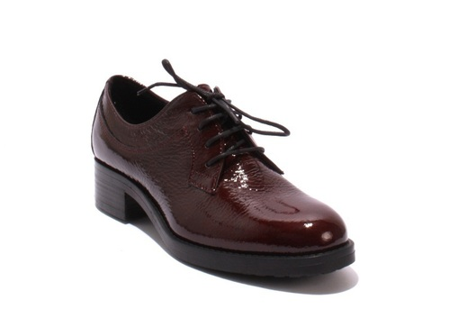 Burgundy Patent Leather / Lace-Up Loafers