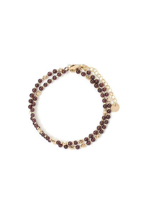 Garnet + Gold Fancy Choker